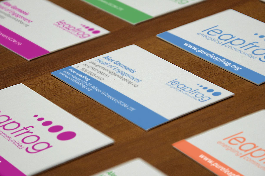 Pure Leapfrog business cards
