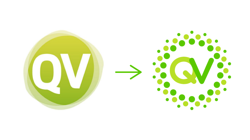 From old to new Queremos Verde logo