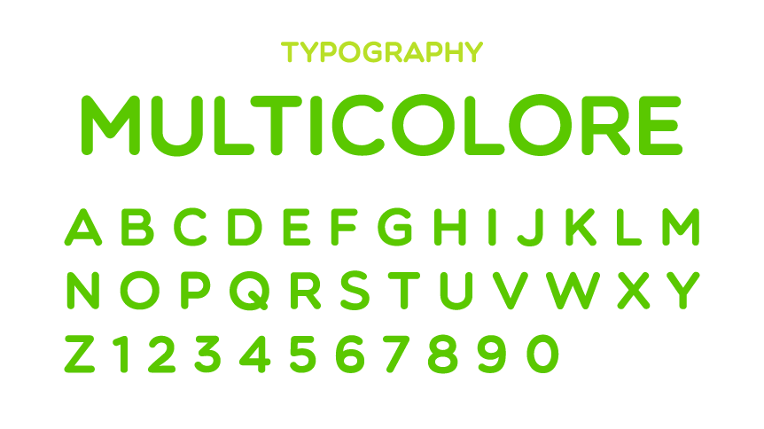 Queremos Verde typography Multicolore